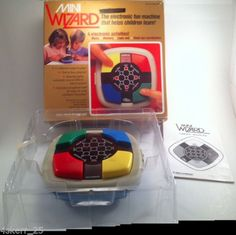Vtech-MINI-WIZARD-in-Box-Electronic-Handheld-Memory-Game-WORKS-Vintage