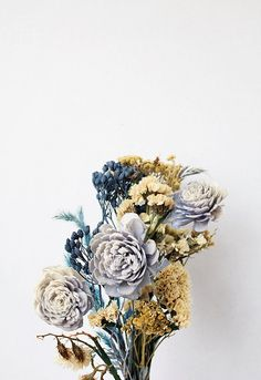 Blue Floral Home Decor Still Life Fine Art by bellesandghosts