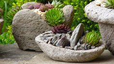 Kvetináče z hypertufy, Autor: Lumix Cement Planters, Cement Crafts, Garden Photos, Garden Sculpture, Exterior, Outdoor Decor, Plants, Diy, Gardening