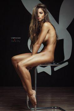 Shy nude model
