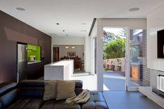 white interior walls with dark brown - Google Search
