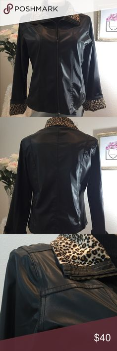 """🔥50% Off Bundles🔥ust a Little Bit Wild This smokin hot jacket looks so good with black skinnies and boots!   Bust (armpit to armpit): 45"""" Back shoulder seam to seam: 35"""" Length (shoulder to hem): 22.5"""" Color: Black Condition: Excellent AXARA NEW YORK Jackets & Coats"""