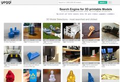 Search Engines for 3D printable models