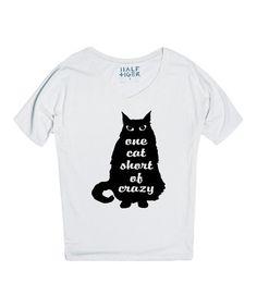 Look at this #zulilyfind! White 'Cat Lady' Tee by Skreened #zulilyfinds