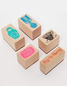 Hazel Nicholls Wooden Stamp Set