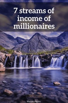 They say that millionaires have an average of 7 streams of income - I break it down and explain what that means and how you can do the exact same thing. Millionaire Mindset How to Become a Millionaire Tips to Becoming a Millionaire Millionaire Tip Make Money From Home, Way To Make Money, Quick Money, Money Saving Tips, Money Tips, Mo Money, Managing Money, Become A Millionaire, Finance Tips