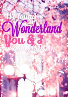 Flashing lights and we.. Took a wrong.. Turn and we.. Fell down the rabbit hole.. You held on tight to me.. Cause nothing as it seems.. #Wonderland #TaylorSwift #1989