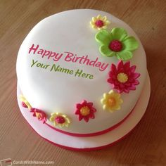 Best Birthday Cake For Girls With Name Edit