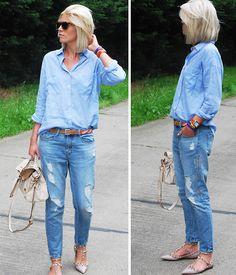 Valentino Sunglasses, Zara Shirt, La Redoute Belt, Zara Jeans, Mulberry Bag, Valentino Flats