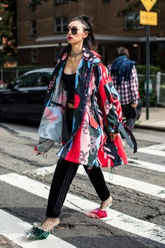 Street style at Fashion Week Spring-Summer 2018 New York Photo by Sandra Semburg
