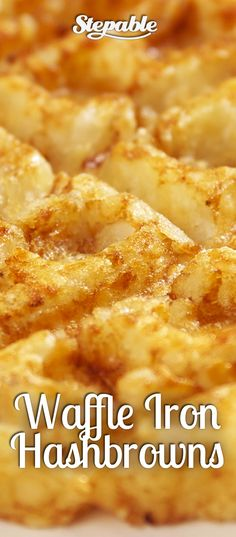 Tater Tots + Waffle Iron = Easy Hash Browns @Stepable #recipes