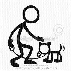 Stick Figure Dog Owner