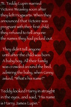Head canons awwwww :) so cute. Though personally I'd prefer it if it was Remus Harry Lupin :')