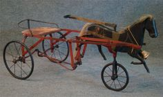 http://www.liveauctioneers.com/item/14207964_childs-horse-pedal-car-with-spoked-wheels-42-lo
