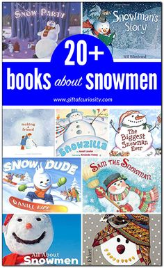 More than 20 children's books about snowmen to share with your kids. Use these books as a starting point to dream about snowman adventures or to gather some inspiration for the next snowman you build. Winter Activities For Kids, Science Activities For Kids, Winter Crafts For Kids, Winter Kids, Book Activities, Sneezy The Snowman, 3rd Grade Books, Snowmen At Night, Wordless Book