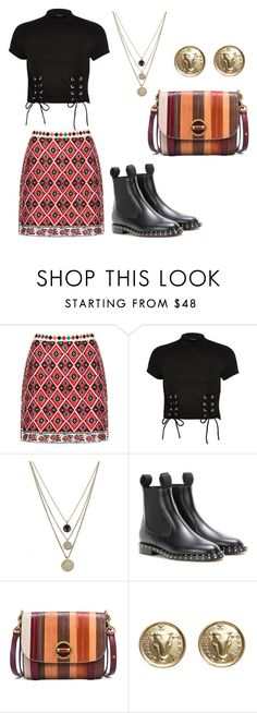 """""""Untitled #2445"""" by loveparis7 ❤ liked on Polyvore featuring Topshop, River Island, LowLuv, Valentino, Tory Burch and Chanel"""