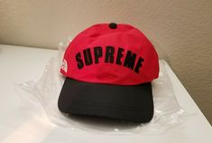 135f0a83e66 SUPREME x The North Face Arc Logo 6 Panel Hat RED Goretex TNF SS19 Wk5  w bag  fashion  clothing  shoes  accessories  mensaccessories  hats (ebay  link)