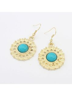 Round Hollow Classic Alloy Earrings : KissChic.com