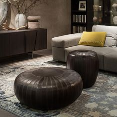 Shop the Tod Pouf and more contemporary furniture designs by Lema at Haute Living. Luxury Interior, Interior Design, Leather Pouf, Door Accessories, Clean Design, Contemporary Furniture, Furniture Decor, Collections, Brick Lane