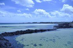 수심이 낮은 청정바다 세화해수욕장..제주도구좌읍.20130725