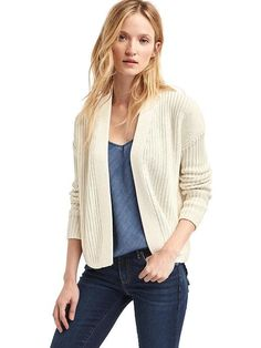 I like the length and texture of the cardigan