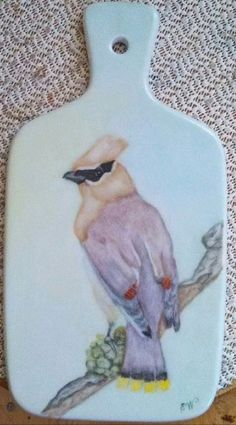 Porcelain Cheese Cutting Board by ekwpaintedtreasure on Etsy, $28.95