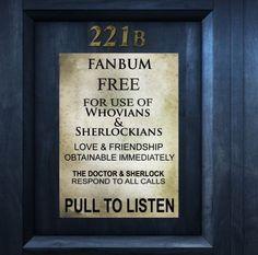 221B TARDIS... Do I post to the Sherlock Board or the Doctor Who Board???