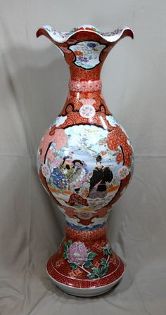 Huge Japanese Imari Porcelain Vase, 19th C. Japanese / Japan Antiques : More At FOSTERGINGER @ Pinterest