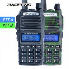 1Pcs Baofeng UV-82 Walkie Talkie UV 82 Portable Two way Radio Dual PTT Ham CB Radio Station VHF UHF UV82 Hunting Transceiver  Price: 48.00 & FREE Shipping  #tech #electronics #home #gadgets
