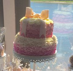 My amazing ombre baby shower cake ... by Creative Cakes by Tricia Abjornson <3