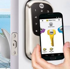 Go Keyless with Assure Bluetooth Smart Lock by Yale Real Living! Control your lock from you smartphone! The new smart lock works with Android and iOS phones, as well as the Samsung Gear smartwatch. Order yours today! Yale Locks, Keyless Locks, Newport Coast, Ios Phone, Air B And B, Smartwatch, Smart Home, Bluetooth, Coastal