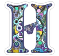 "The Letter H by gretzky  3"" x 4"" Vinyl sticker from Red Bubble only 2.40"