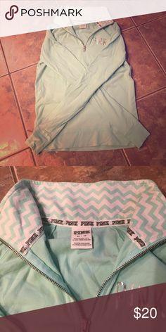 Pink Victoria Secret Half Zip Great condition. Wrinkly from storage. Bundle to save. PINK Victoria's Secret Tops Sweatshirts & Hoodies