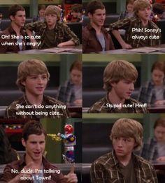 Chad: Sonny siempre es linda, no puede hacer ninguna cosa que no sea linda.... Demasiado linda..!!! Awww Chad que romantico :3