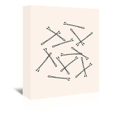 East Urban Home Bobby Pins Graphic Art on Wrapped Canvas Size: