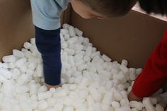DIY I Spy Activity w/ Packing Peanuts Somehow i feel like this could go horribly wrong with my kids but keeping in mind Sunday School Games, Sunday School Lessons, Vbs Crafts, Camping Crafts, Memory Verse Games, Summer Camp Themes, Spy Party, Vacation Bible School, I Spy