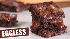 My Best Eggless Fudgy Brownies | How Tasty Channel - YouTube Eggless Brownie Recipe, Brownie Recipe Video, Eggless Chocolate Cake, Eggless Recipes, Brownie Recipes, Chewy Brownies, Chocolate Brownies, Brownie Cookies, Condensed Milk Desserts