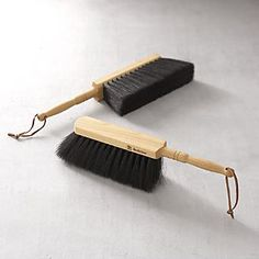 Redecker® Natural Dust Pan Brush I Crate and Barrel
