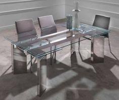1000 images about table de salle manger design ou for Table de salle a manger en verre avec rallonge