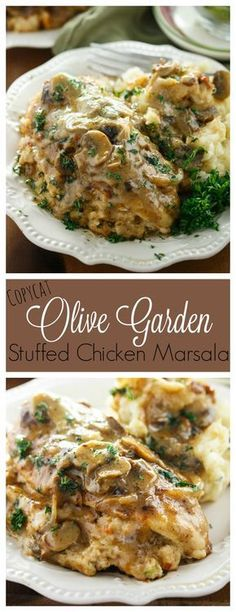 Copycat Olive Garden Stuffed Chicken Marsala: Make this classic Olive Garden meal from the comfort of your home with a savory Stuffed Chicken Marsala recipe straight from the restaurant itself!