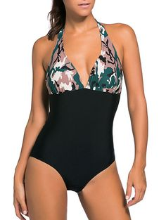 See our Dark Camouflage Print Black Body One-piece Swimwearfrom our selection. The latest in sexy one piece swimwear, two piece bikinis, and select women's swimsuit design. Camo Swimsuit, Green One Piece Swimsuit, One Piece Swimwear, Black Swimsuit, Nylons, Body One, Latest Summer Fashion, Sexy Women, One Piece For Women