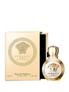 Versace - Apa de parfum Versace Eros pour Femme, 50 ml, pentru femei Flask, Perfume Bottles, Floral, Beauty, Flowers, Perfume Bottle, Beauty Illustration, Flower