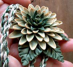 Green on Green Flower Pendant by ZudaGay, via Flickr