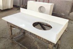 Staraok hospitality bathroom vanity quartz tops -pure white quartz White Quartz, Pure White, Countertops, Vanity, Pure Products, Hospitality, Bathroom, Counter Tops, Painted Makeup Vanity