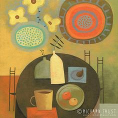 "©Richard Faust - 'Still Life' 12""x12"" (acrylic on board) www.richardfaust.com"