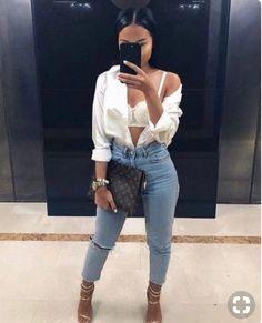 ideas for fashion style outfits going out classy shoes Dope Fashion, Fashion Killa, Girl Fashion, Fashion Looks, Fashion Outfits, Womens Fashion, Fashion Trends, Fashion 2018, Denim Fashion