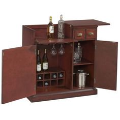 @Overstock.com - Store your vino in this lovely hand-painted wine cabinet. The distinctive cabinet is made from solid hardwood and features a distressed rub-through finish. The built-in wine rack will allow you to store up to 10 bottles of your favorite vintages.http://www.overstock.com/Home-Garden/Hand-Painted-Red-Accent-Wine-Bar-Chest/6165337/product.html?CID=214117 $682.99