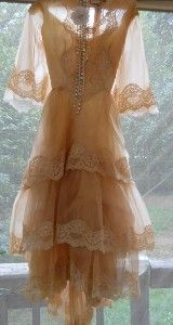 Beige tea stained lace vintage dress romantic by... | Shop fashion, apparel| Kaboodle