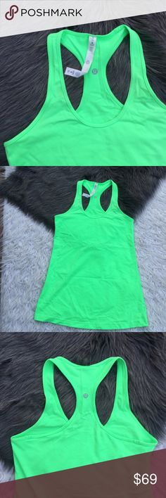 lululemon green top lululemon green top super cute And in great condition lululemon athletica Tops Crop Tops