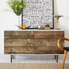 Clear the clutter + reclaim your space with our Reclaimed Wood and Lacquer dresser. ✊ #mywestelm love the framed print